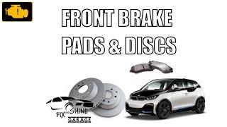Front brake pads and discs replacement BMW i3 - wymiana przednich tarcz i klockow hamulcowych