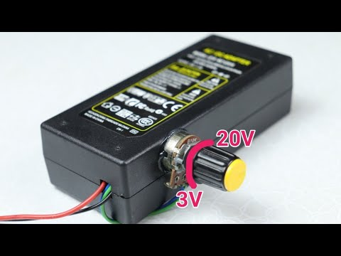 Turn Any Fixed Voltage Adapter To Variable Voltage Output (3v - 25v)