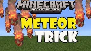 METEOR TRICK   Minecraft PE (Pocket Edition) Meteor Shower in Minecraft