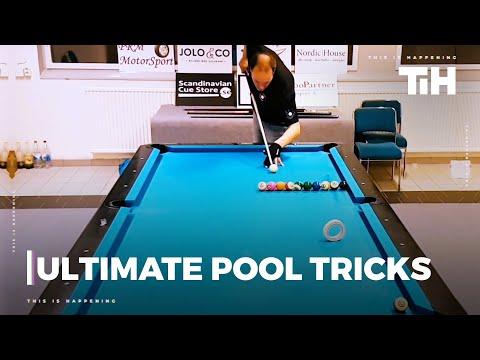Man Performs Amazing Tricks While Playing Pool