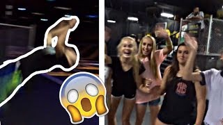 FLIPPING FOR GIRLS AT TRAMPOLINE PARK!