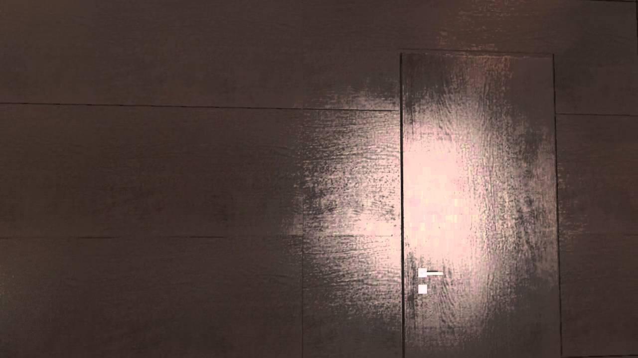 Pareti Ricoperte Di Legno : Pareti rivestite con boiserie dello stesso legno delle porte youtube