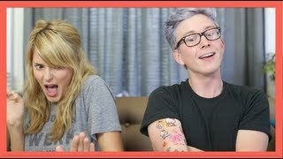 Repeat youtube video 2GIRLS1CUP REACTION (ft. Grace Helbig) | Tyler Oakley