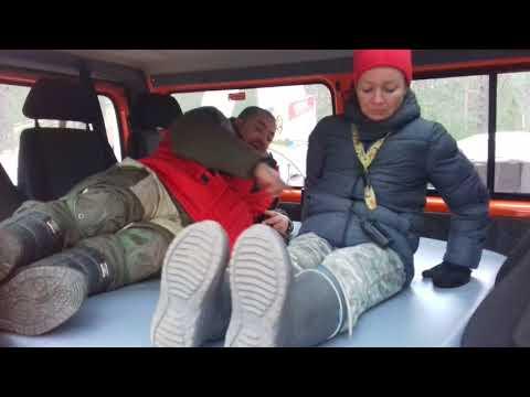 """Тест надувной кровати в салон """"Соболя 4х4"""" автобуса. Часть 1."""