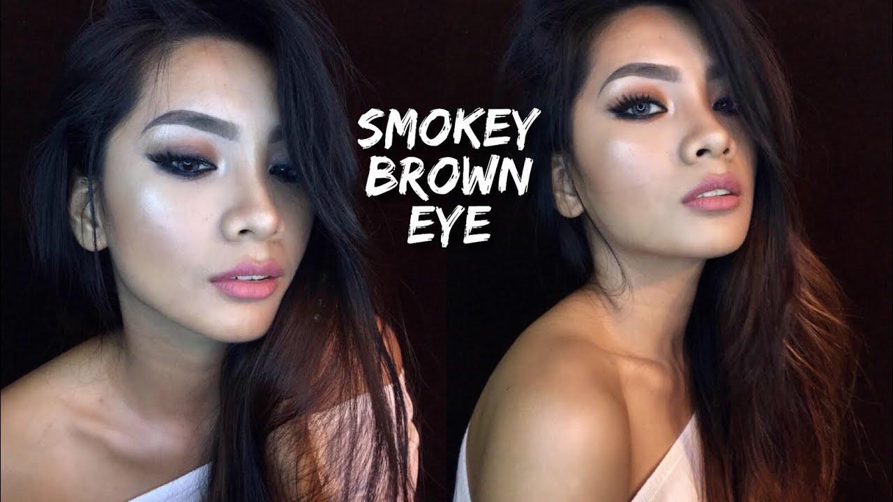 SMOKEY BROWN EYE MAKEUP LOOK   Philippines - YouTube