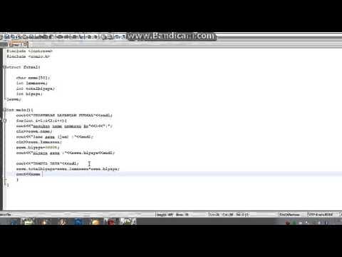 Cara Menggunakan Struct Pada C++