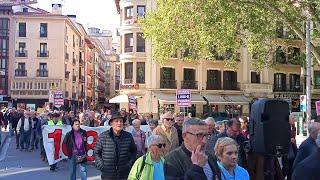 """Manifestación en Pamplona por unas """"pensiones dignas"""""""
