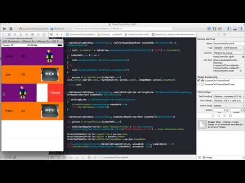 Xcode 6 0 custom cell for tableview swift youtube for Xcode 6 tableview
