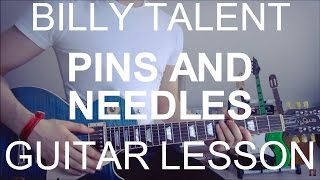 Billy talent: Pins and needles (GUITAR TUTORIAL/LESSON#81)