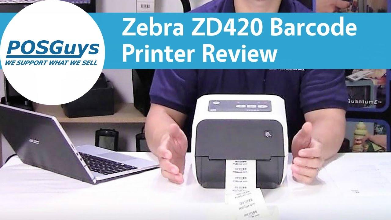 Zebra ZD420 Barcode Printer Review - POSGuys.com - YouTube