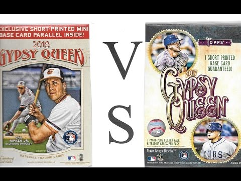 2016 VS 2017 Topps Gypsy Queen Baseball Retail Blaster Box Break