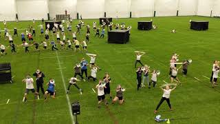 Castle marching Knights full run-through practice for Grand National semifinals