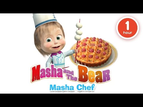 Masha and The Bear - Cooking and eating in the kitchen with