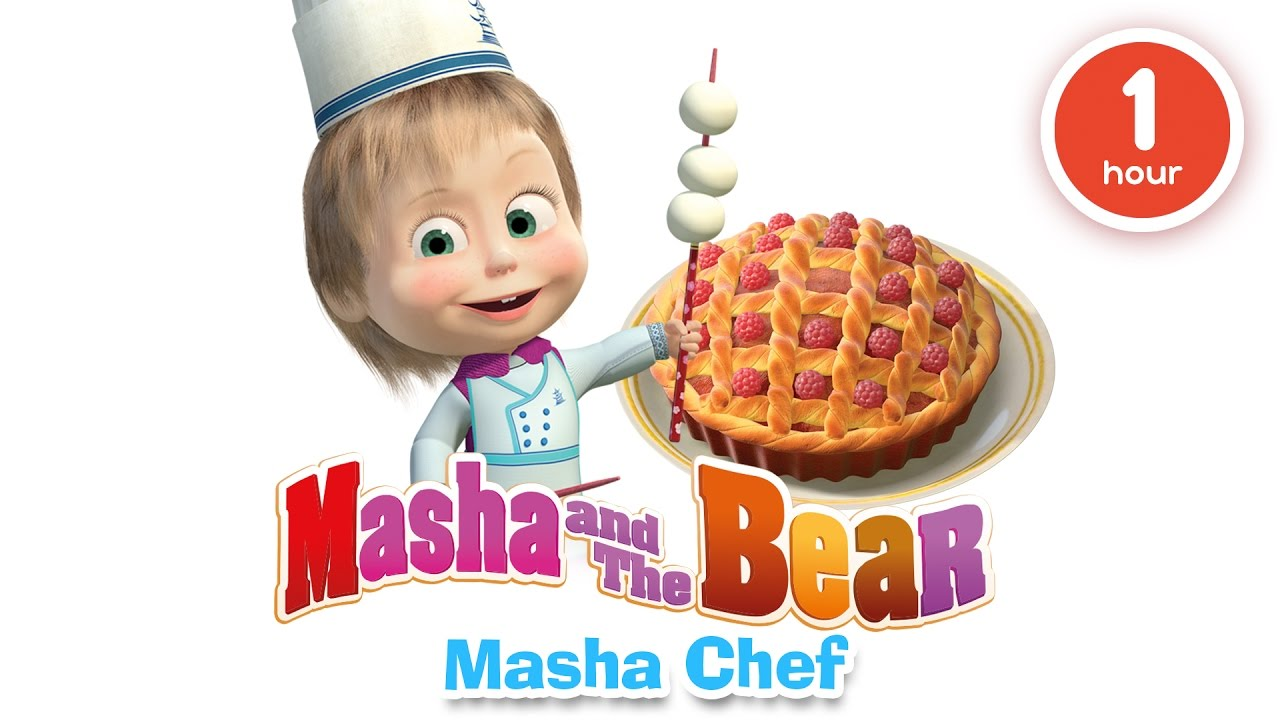 Masha and the bear cooking and eating in the kitchen with masha cartoons about food 2016 youtube