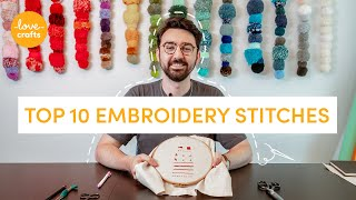 Embroidery for beginners | TOP 10 stitches!