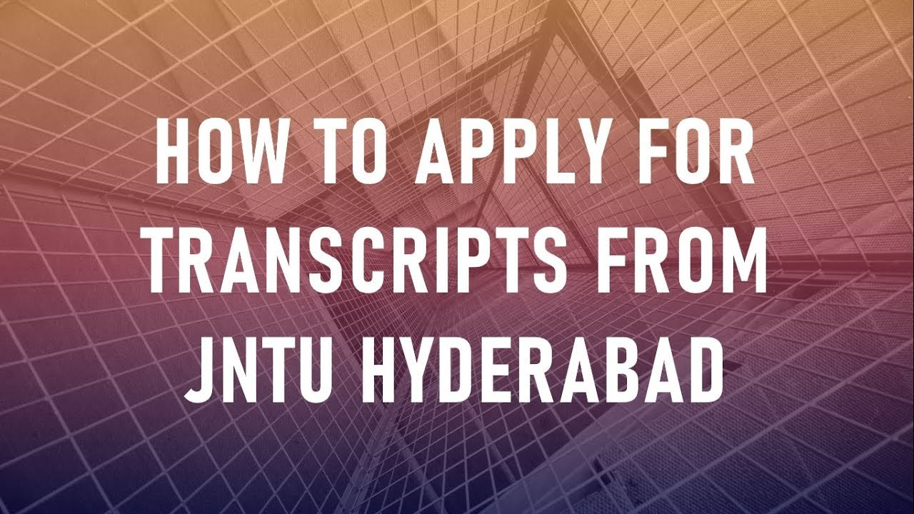 How to apply / order for transcripts online from JNTU Hyderabad || How to send transcripts to WES