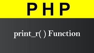 print_r Function in PHP (Hindi)
