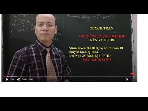 Giải chi tiết đề minh họa môn toán năm 2020 những câu hay và khó (P1)