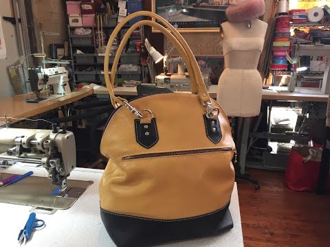 How To Make A Leather Bucket Tote Bag Part 2