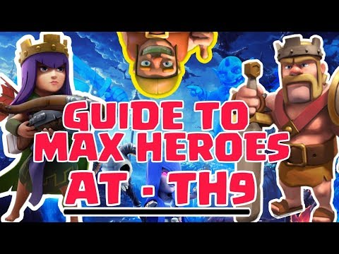 TH9 HOW TO REACH 30 LEVEL HEROES FAST IN CLASH OF CLANS!