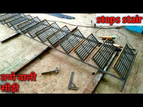 how to Installing stairs || building outdoor iron staircase