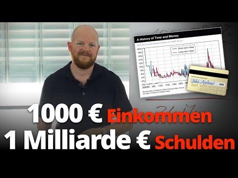 1000 € Einkommen und 1 Milliarde € Schulden? | Jens Rabe
