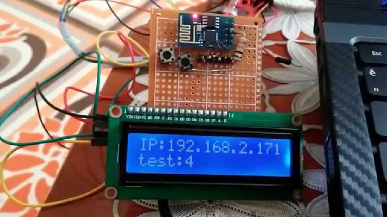 Esp8266 With 16x2 I2c Lcd Doovi