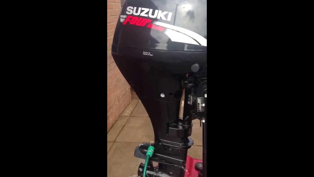 Suzuki four stroke 9.9 outboard - YouTube