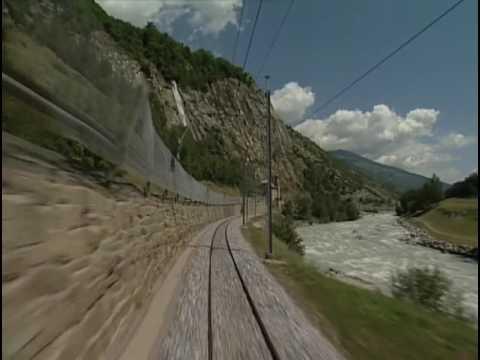 World railways. Switzerland. Glacier Express_2. Brig - Andermatt