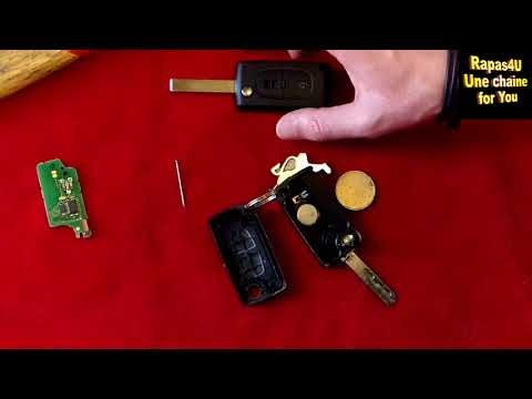 REMPLACE TOI-MÊME TA CLE (plip) DE VOITURE  - Peugeot Citroën *CHANGE YOUR CAR KEY* TUTO // Rapas4U