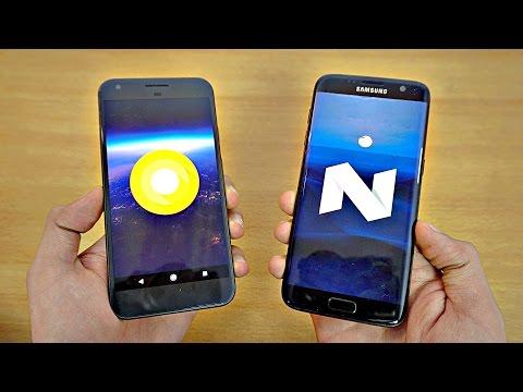 Google Pixel XL Android O vs Samsung Galaxy S7 Edge - Speed Test! (4K)