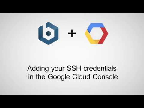 Adding SSH Key for Google Cloud Console