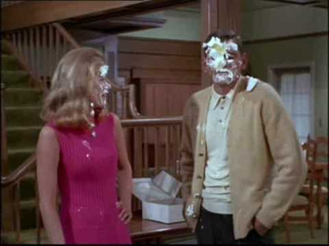 Sam cops a pie in the face! - BEWITCHED
