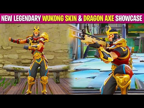 """*NEW* LEGENDARY """"WUKONG SKIN"""" & """"DRAGON AXE"""" in FORTNITE! (First Person Mode)"""