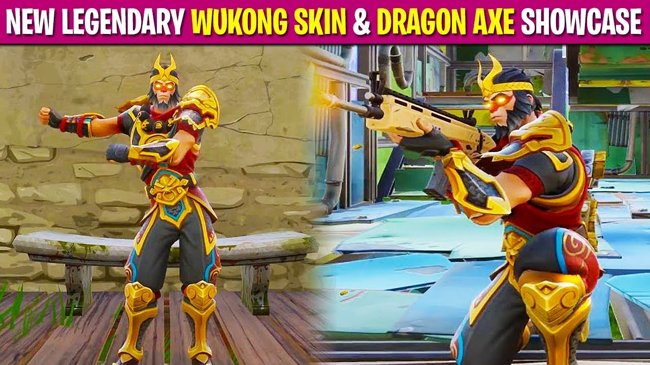 New Legendary Wukong Skin Dragon Axe In Fortnite First - fortnite teamchaos