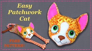 Easy Patchwork Kitty Cat  || FREE PATTERN || Full Tutorial with Lisa Pay