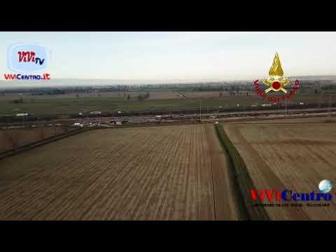 Incidente Ferroviario Freccia Rossa, 060220, ricognizione con droni
