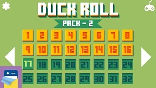 Duck Roll: Pack 2 Levels 1 - 16 Walkthrough Guide & iOS iPhone 6S Gameplay (by Mamau)
