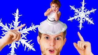 Песенка про снежинку | Песни про зиму для детей | Новогодние песенки от Ба Би Бу