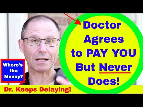 Doctor Agrees to SETTLE YOUR Claim BEFORE You File a Lawsuit but Doesn't Actually Pay You!