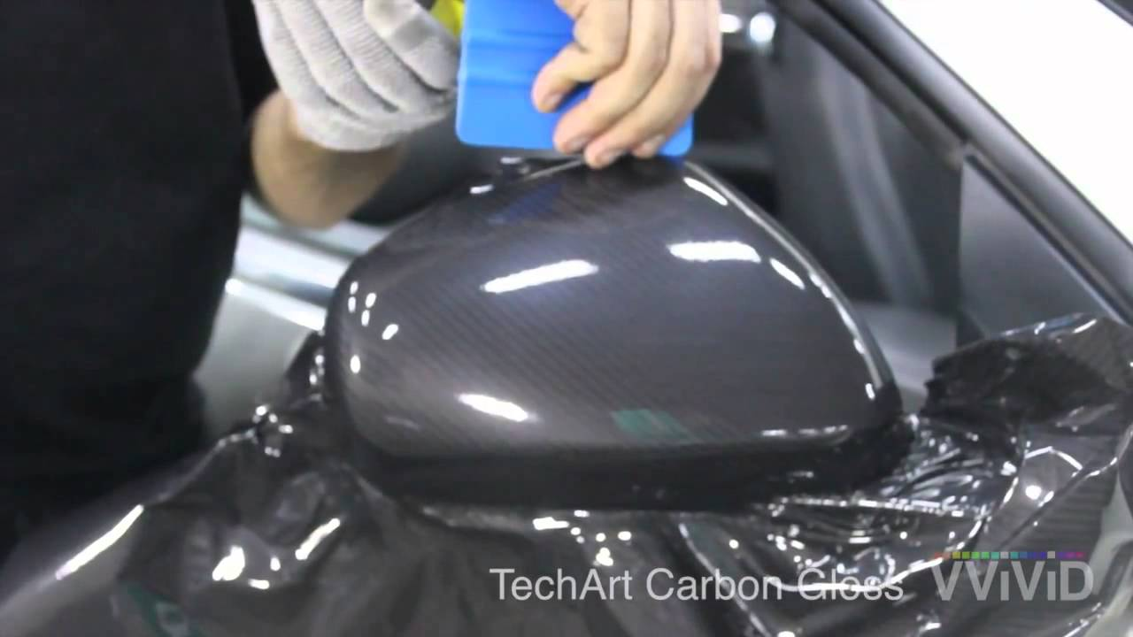 How to install techart carbon gloss vinyl to mirror