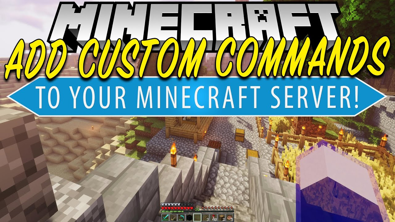 How To Add Custom Commands to Your Minecraft Server (MyCommand Tutorial)