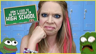 HOW I DID MY MAKEUP IN HIGH SCHOOL | GRAV3YARDGIRL