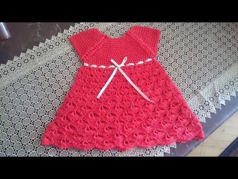 4b95b4cc9 فستان كروشيه اطفال.الجزء الاول -Dress Crochet