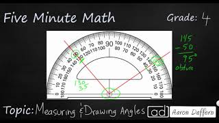 4th Grade Math Measuring and Drawing Angles