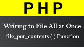 Writing a File All at Once in PHP (Hindi) Mp3