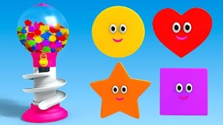Shapes for Children to Learn with Gumball Machine - Learning Shapes Videos for Children