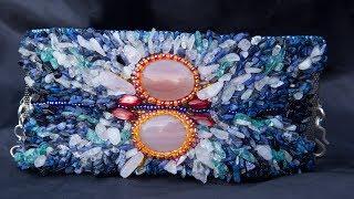 Шикарный браслет из бисера и камней своими руками. Подробный видео мастер класс