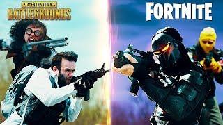Реальная битва PUBG против FORTNITE
