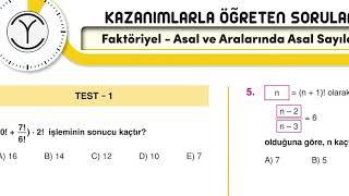 ORİJİNAL TYT MATEMATİK FAKTORİYEL TEST 1 SORU ÇÖZÜMÜ VE KONU ANLATIMI